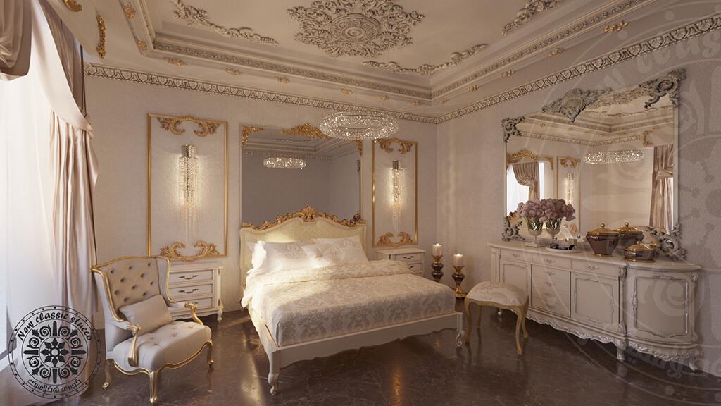 گچبری پیش ساخته اتاق خواب